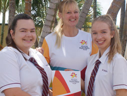 Miss Sharry carries Commonwealth Games Baton