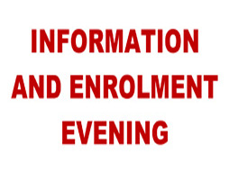 WHSC Year 7 2016 Information and Enrolment Evening